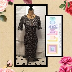 LuLaRoe Julia Dress 👗 & Necklace BNWT